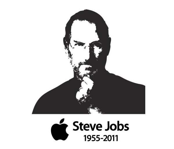 Steve Jobs Free Vector Illustration