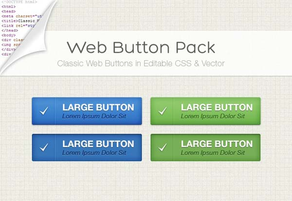 Clear Web Button Pack