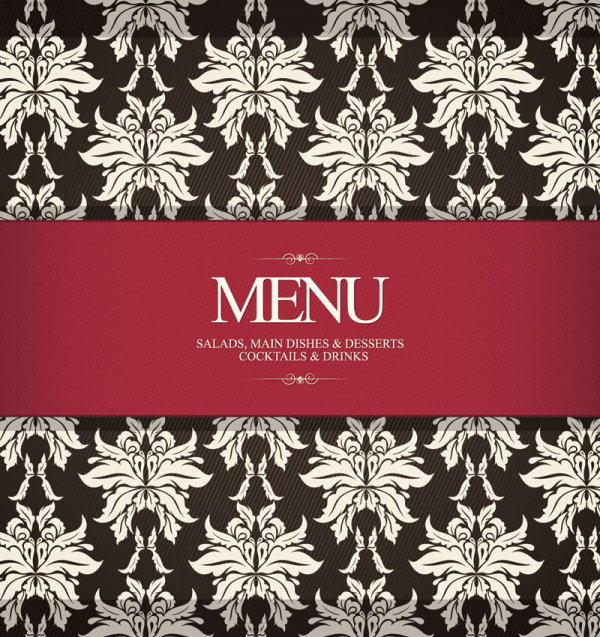 Restaurant Menu Cover Illustration (Vector)