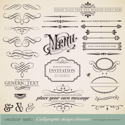 Lace Lines Vector Design 20+