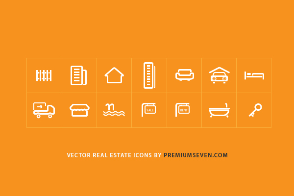 Real Estate Icons ( Vector )