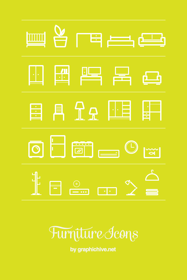 Furniture Icons Vector Graphic Hive