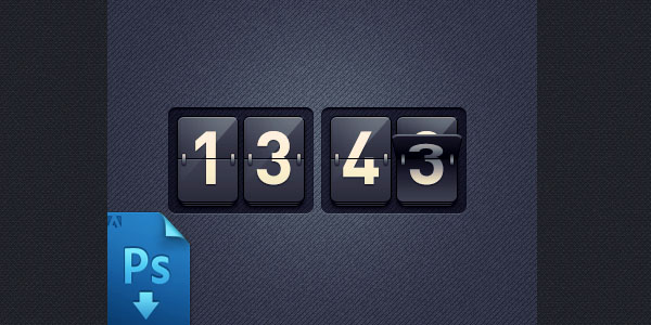 ... psd illustrations of two pencils; red & yellow.]]> Flip Clock Psd