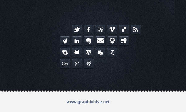 Transparent Social Media Icons (Psd)