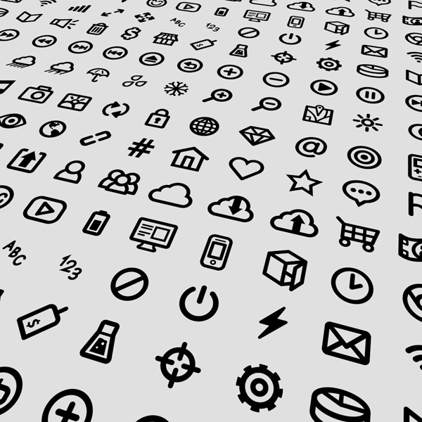 Small Icons Vector Design Set ( Illustrator)
