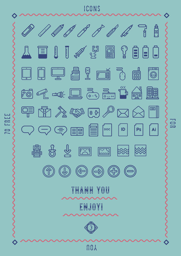 60+ Free Vector Line Icons