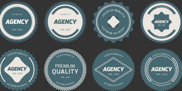 Flat Badges ( PSD & VECTOR)