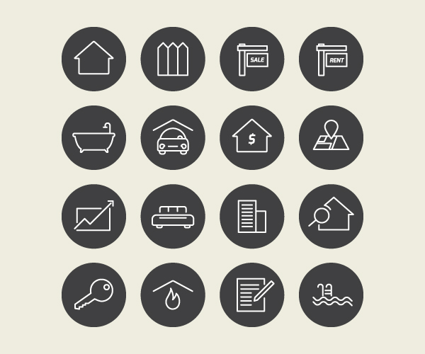 Real Estate Vector Icons (Free Download)