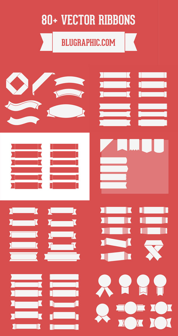 Download This Set Of More Than 80 Ribbons Designed By Blugraphic Com