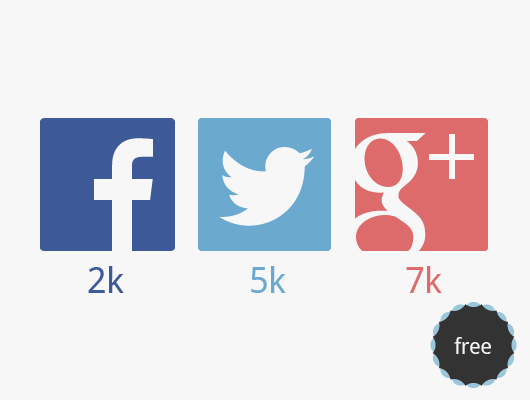 Social Media Box Icons in vector material