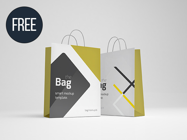 Bag Mockup Template (PSD - Smart Object)