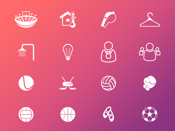 Collection Of Free Line Sport Icons Designed By Yaroslav Zubko