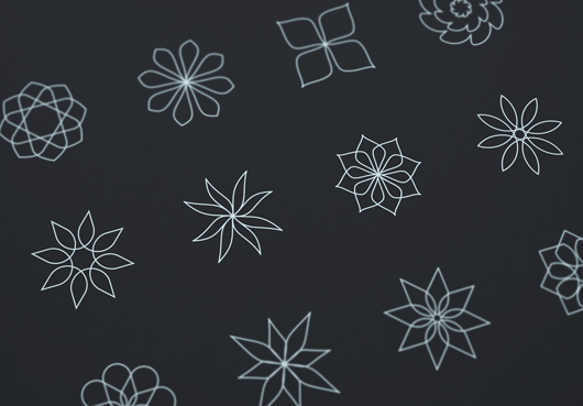 Beautiful Set Of Abstract Florals Designed By Blugraphic Com