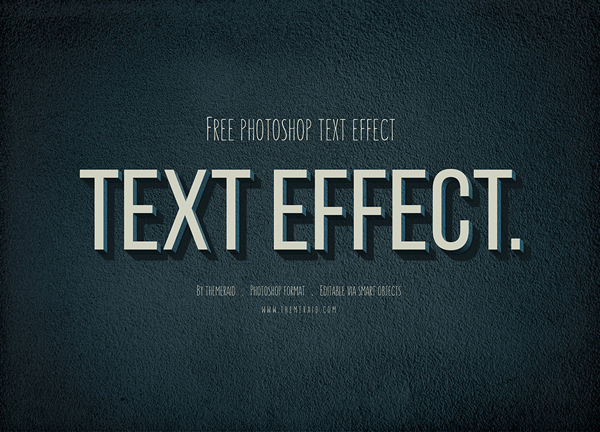 Text effect free by themeraid com gt vintage text effect mockup psd