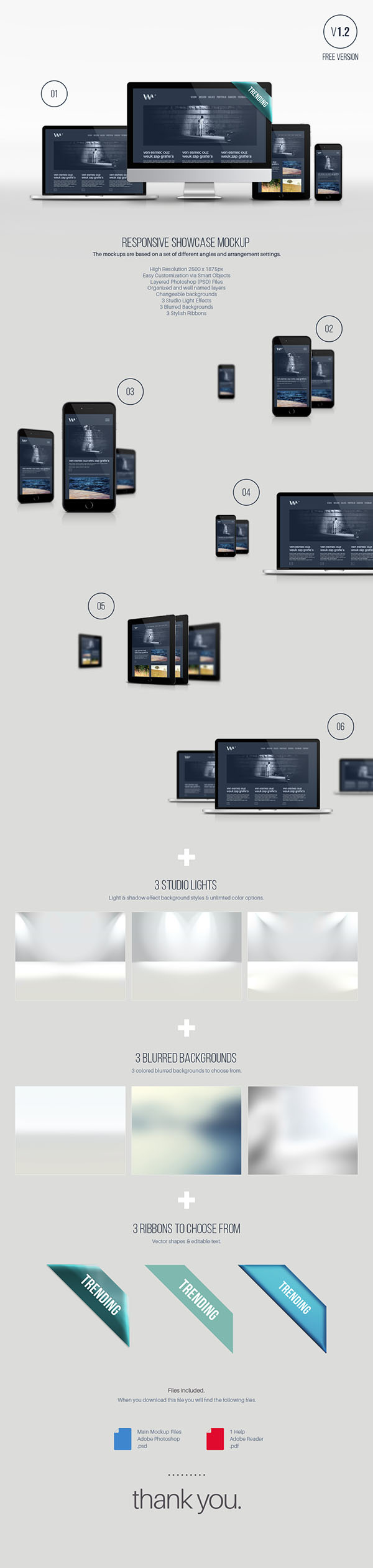 Responsive Showcase Mockup Template To Present Your Web Designs In A
