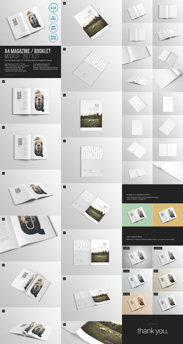 4 free magazine mockup templates psd graphic hive