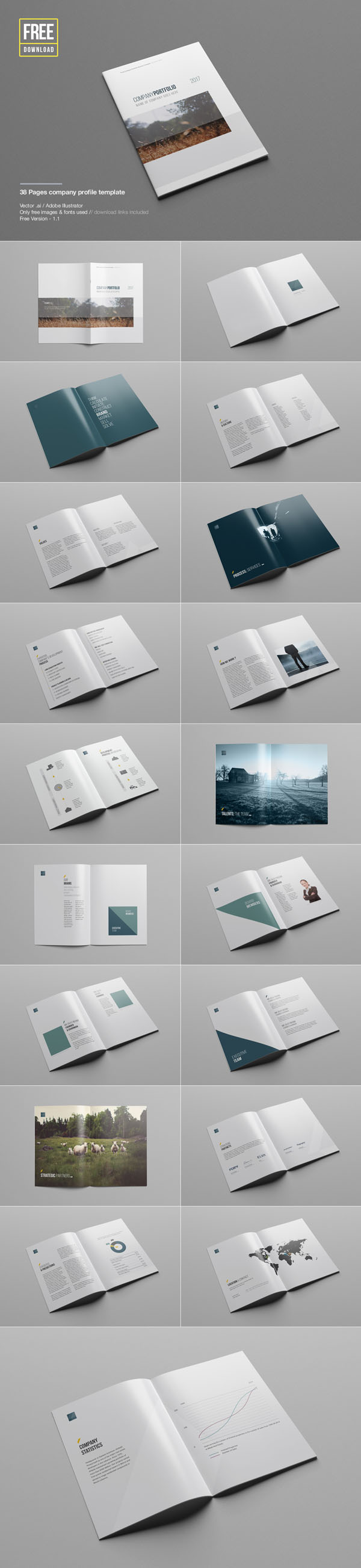 for Company profile after effects templates free download