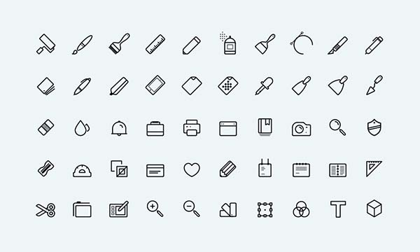 Neat Lined Free Vector Art Icons Designed By Themeraid Com