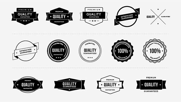 Quality Free Vector Badges