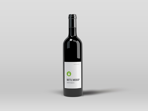 Black Bottle Psd Mockup