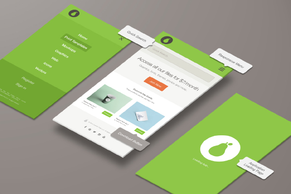 Nice Presentation Mockup To Display Your App Designs By Graphic Pear
