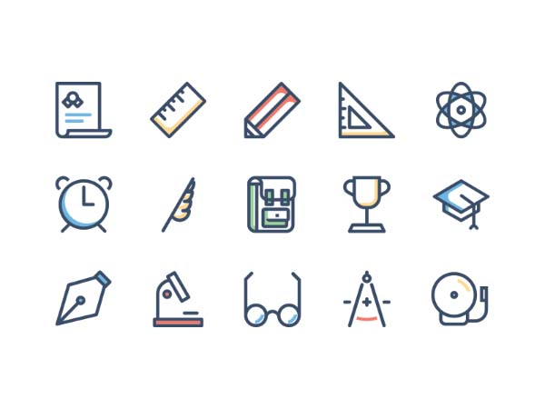 Vector School Icons