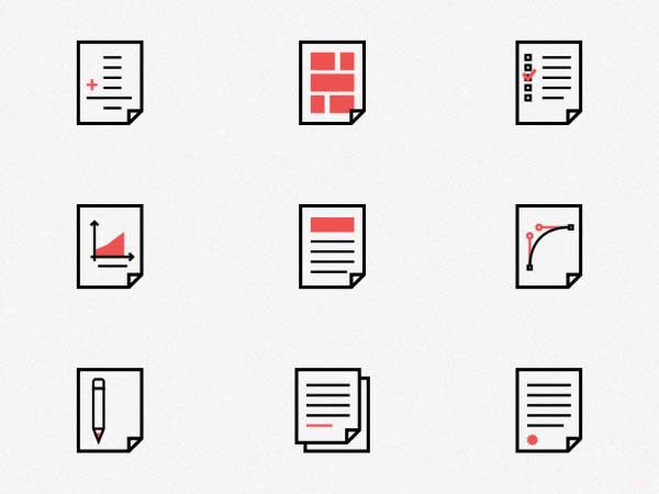 Vector Document Icons