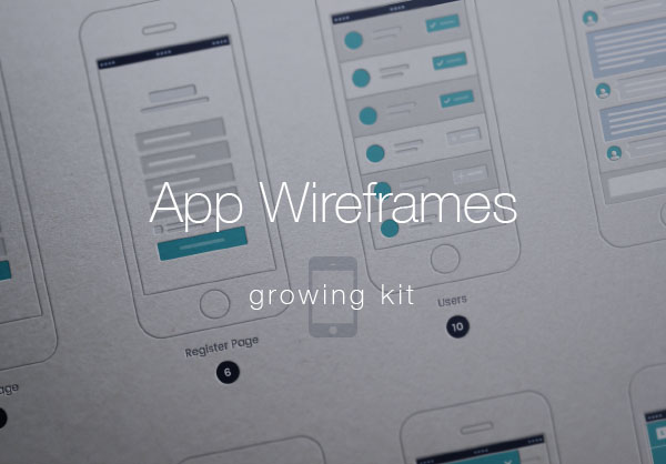Mobile App Wireframes (Vector)