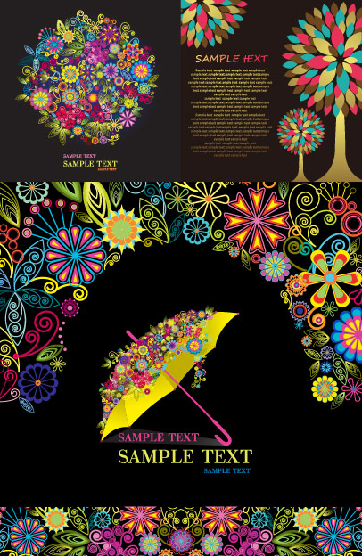 Colorful pattern composed of vector graphics