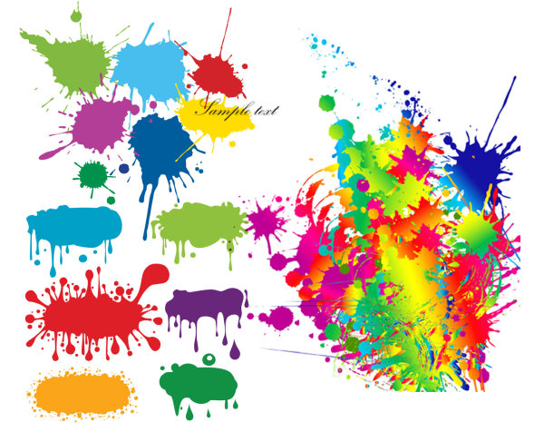 color ink drops graffiti vector graphic| graphic hive, Powerpoint templates