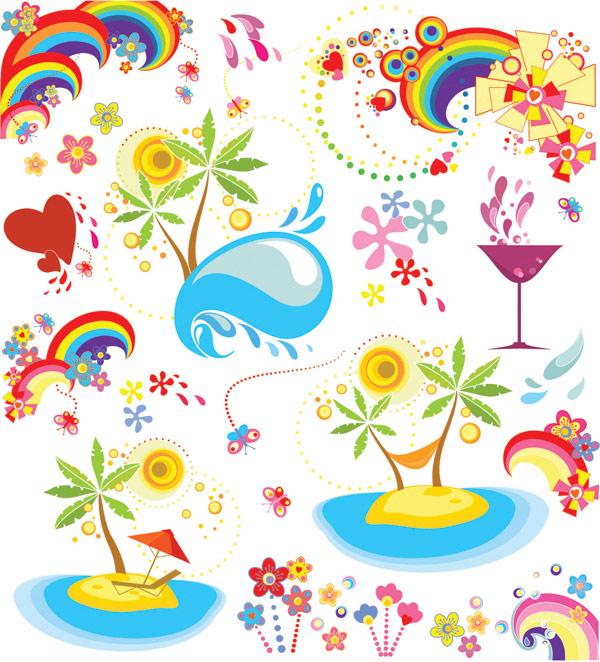 Summer Fun Motion Vector elements