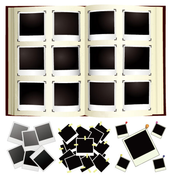 polaroid photo albums vector graphic graphic hive. Black Bedroom Furniture Sets. Home Design Ideas