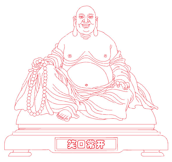 laughing buddha vector graphic