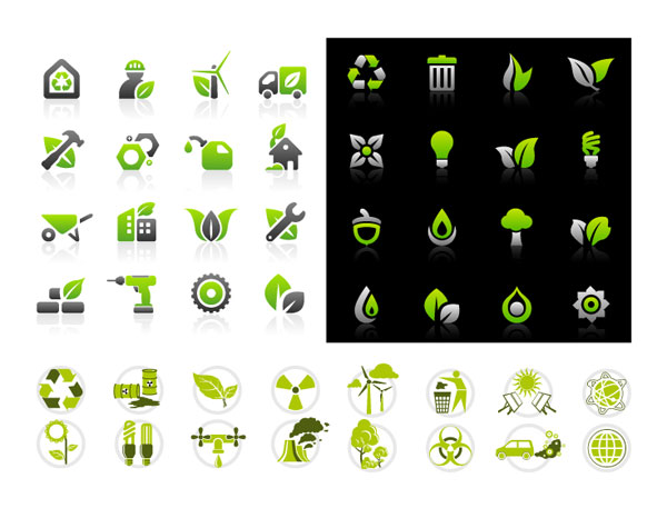 Environmental Protection Icon Set Vector Graphics Graphic