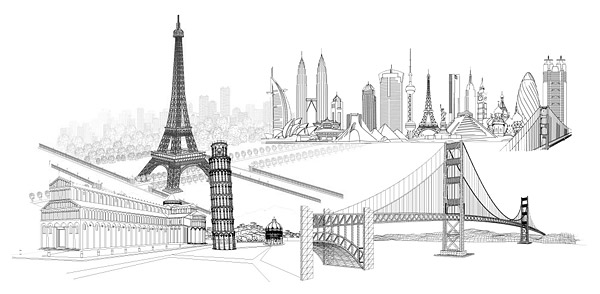 Famous Buildings Vector Graphic Hive
