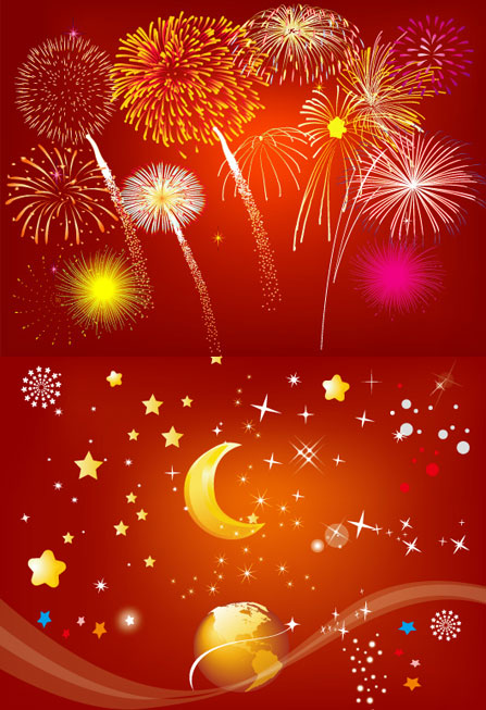 Festival Fireworks Vector| Graphic Hive