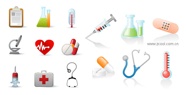 Containers Thermometers Microscopes Vector Graphic