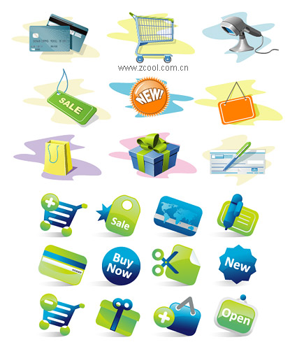 Credit card icon vector