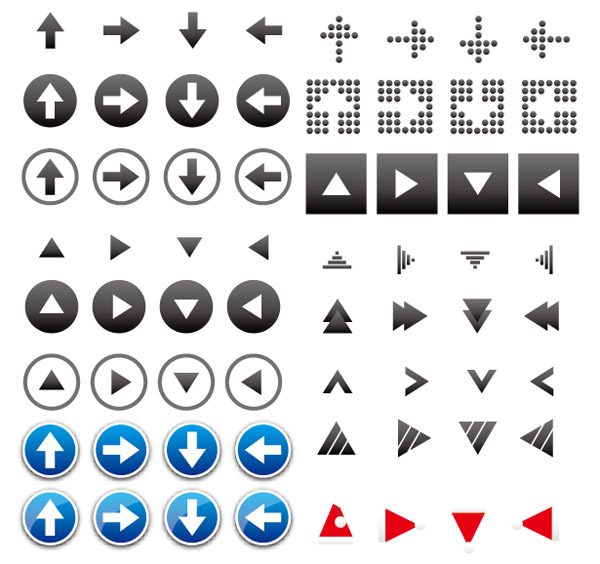 Arrow icon vector material useful