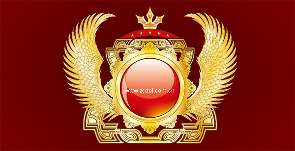 Gold wings texture vector graphics material