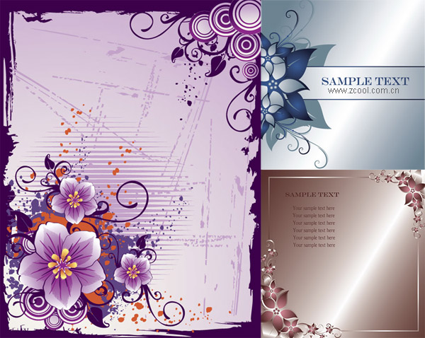 3 flower border vector graphic graphic hive