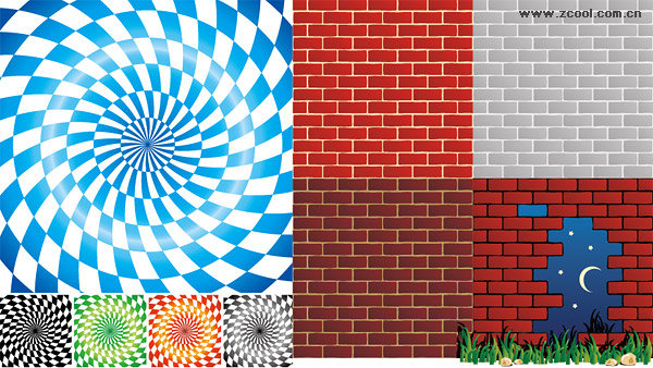 Spin lattice vector background material and brick wall