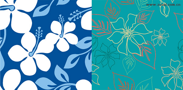 Vector flowers background material and practical