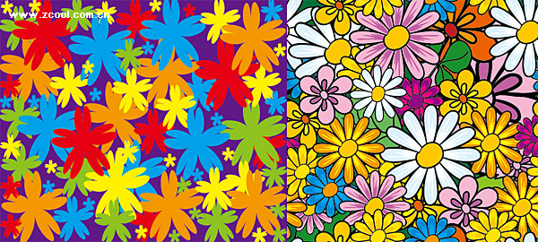 lovely flowers vector background material