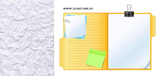Very Wrinkled And The White Paper Notes Vector Graphic Graphic Hive