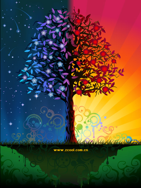 colorful tree | graphichive, Powerpoint templates