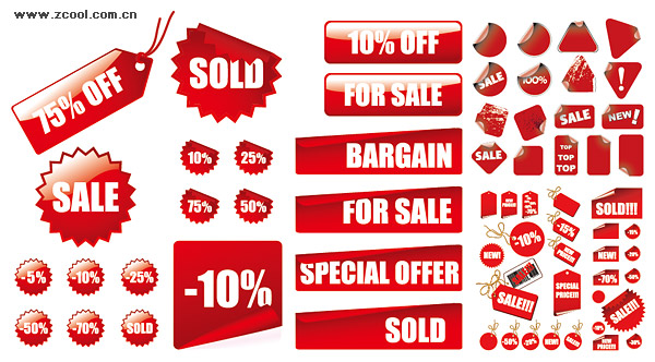 vector red decoration materials sales price graphic hive