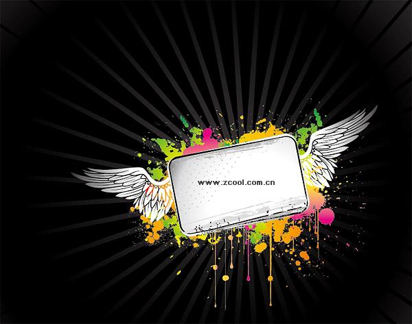 The tide of ink vector wings bulletin board material