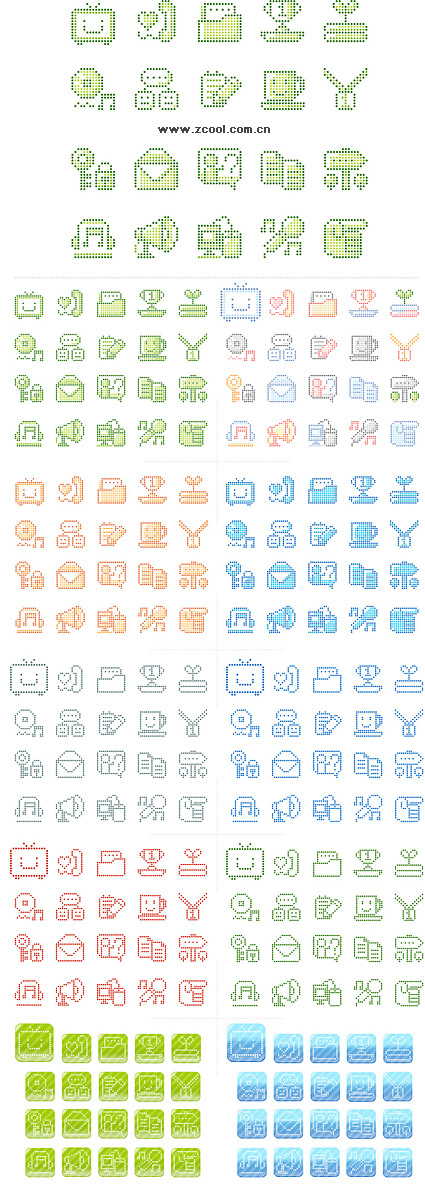 Simple pixel vector graphics material-2