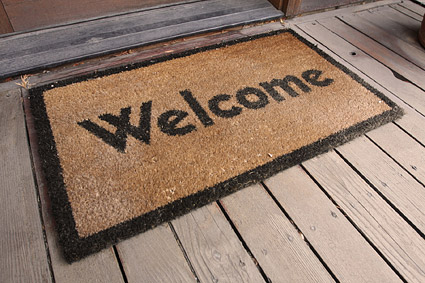 welcome carpet picture material graphic hive